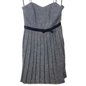 Max And Cleo Strapless Wool Blend Dress Size 6
